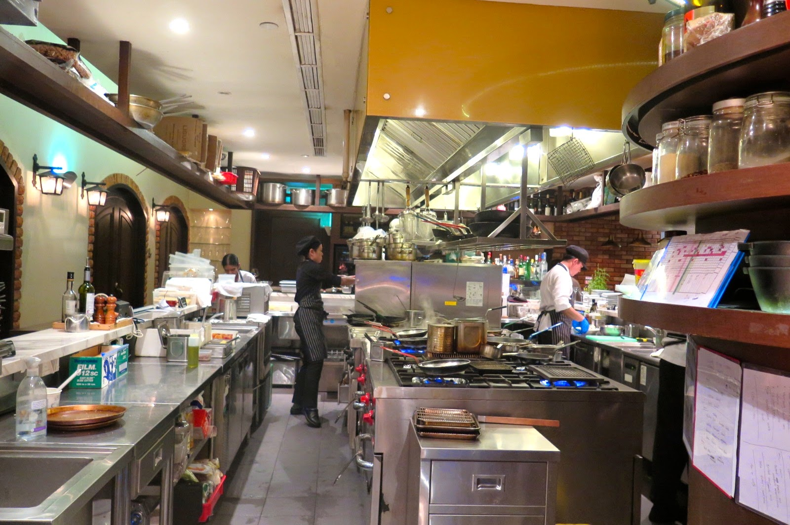 Restaurant Open Kitchen Concept arossa singapore – grill & wine bar – alainlicious