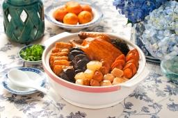 Braised Abalone w Sea Treasures in Claypot (Min Jiang)