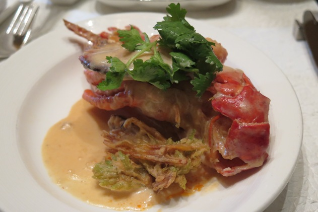 Simmered Boston Lobster with Ginger Milk