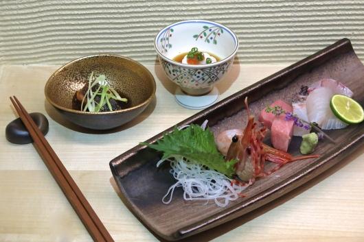 Spanish Mackerel, Cod Fish Milt and Assorted Sashimi