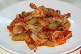 Sauteed Trio of Seafood with Pineapple in Chef Special Sauce