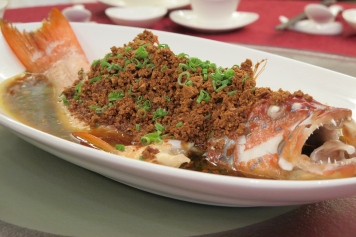 7. Steamed Red Grouper in Superior Soya Sauce with Soybean Crumbs - Park Hotel Clarke Quay