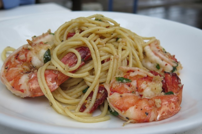 Spaghetti Prawn Aglio Olio