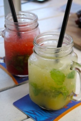 Strawberry Mojito and Peach Mojito