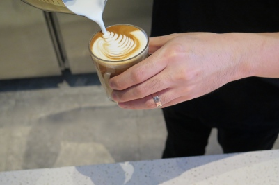Pouring Coffee Shot