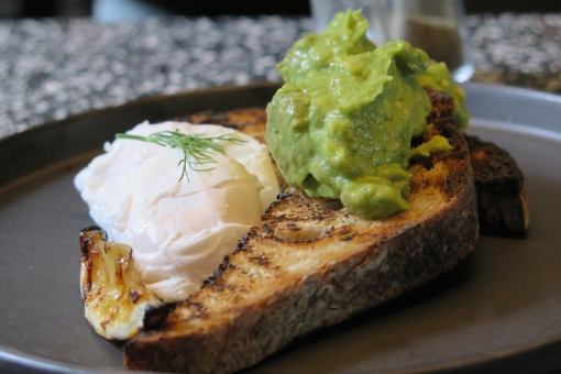 Mashed Avo on Sourdough with Poached Eggs and Charred Lemon $13
