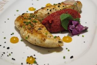 Main Option 2 - Garlic and Thyme Chicken Supreme, Chorizo and Potato Mash, Citrus Sauce