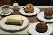 Selection of Angelina Pastry Desserts and Signature Hot Chocolate