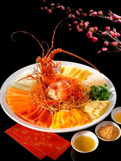 Rainbow Lobster and Crab Meat 'Lo Hei'
