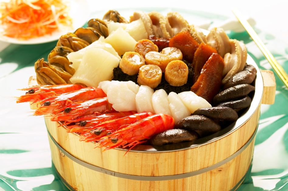 Prosperity Sea Treasures in Wooden Pot (Min Jiang and Min Jiang at One-North)