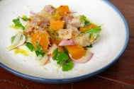 Hamachi, Tiger's Milk, Sweet Potato, Horseradish $18
