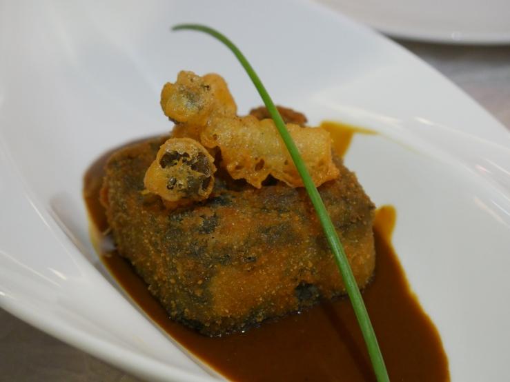 Pan-Fried Beancurd with Black Truffle Sauce