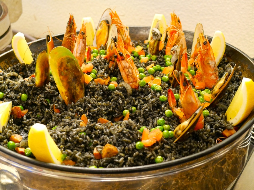 Arroz Negre (Valencia Squid Ink Rice with Seafood)