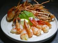 Tapas - Botan Ebi served with Shoyu and Wasabi ($28)