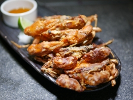 Tapas - Soft Shell Crab Served with Tempura sauce and Grated Radish ($12)