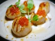 Tapas - Hokkaido Scallops with Garlic Chips ($24)
