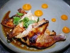 Mains - Saikyo Miso Ginger Spring Chicken with Pumpkin Puree ($22)