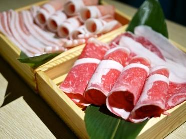 Shirobuta Pork Loin & Belly, Aomori Japanese rice-fed Beef Striploin and Ribeye