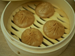 Steamed Baby Abalone with Black Truffle Xiao Long Bao ($11.80 for 4 pcs)