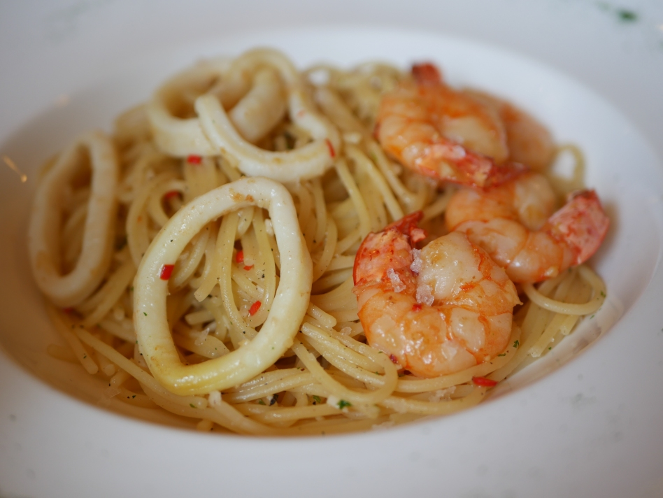 Prawn and Squid Spaghetti ($24)