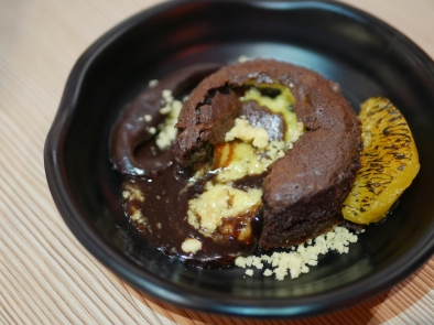 Salted Egg and Chocolate Lava Cake ($8.90)