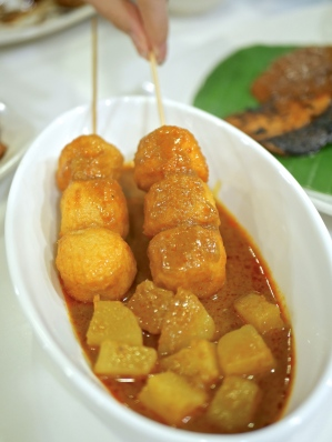 Penang Curry Fish Balls ($4.95)