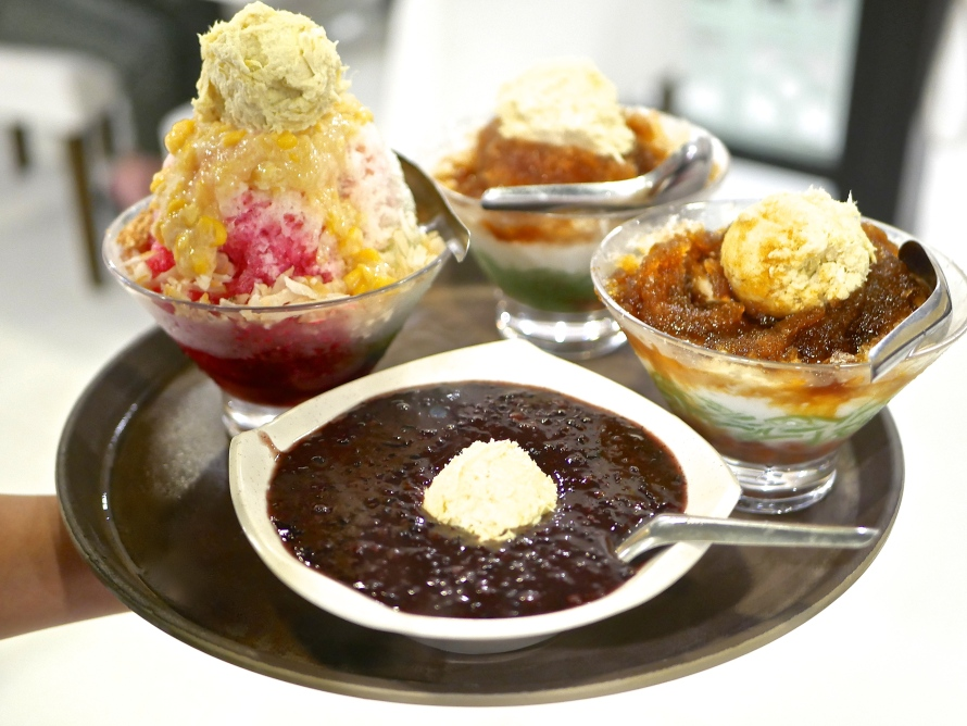 Desserts - Burbur Hitam, Durian Cendol and Ice Kachang