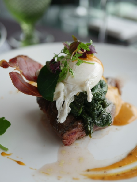 US Beef Short Ribs with Egg Benedict ($40)