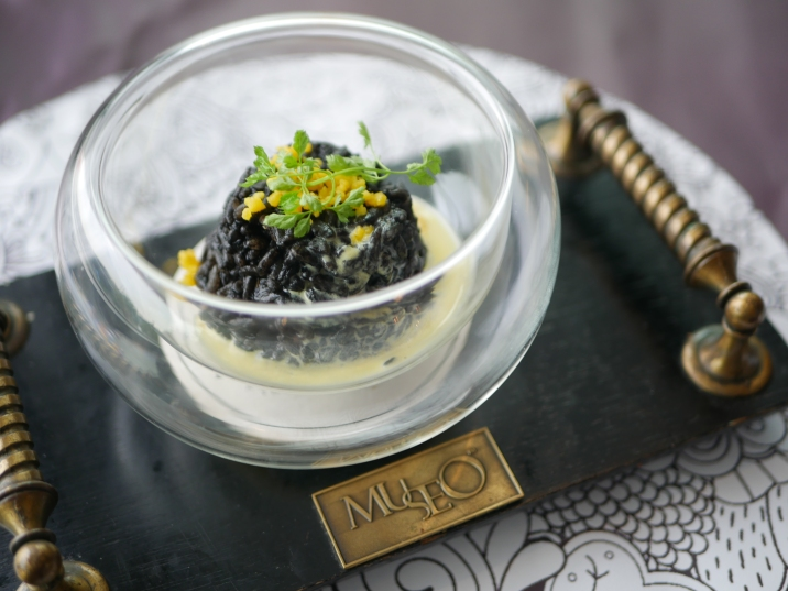 Risotto - Squid Ink Mushroom Risotto ($8)