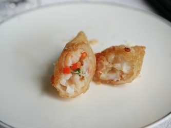 Deep-fried Diced Chicken with Shrimp