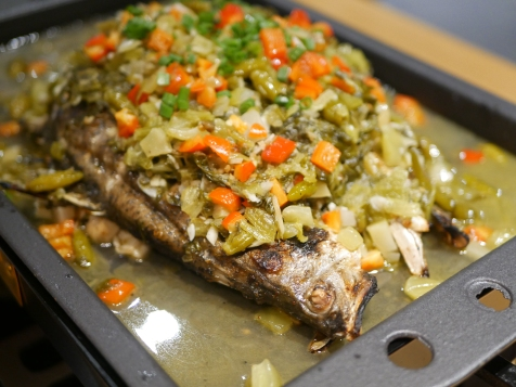 Grilled Garoupa in Pickled Vegetable Sauce