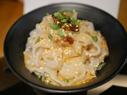 Sesame Glass Flat Noodles ($4.80)