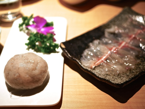 Shrimp Paste Dome ($14+) / Translucent Sliced Fish (12 slices for $22+)