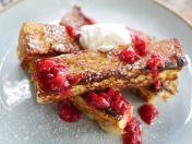 Berry & Creme French Toast ($14)