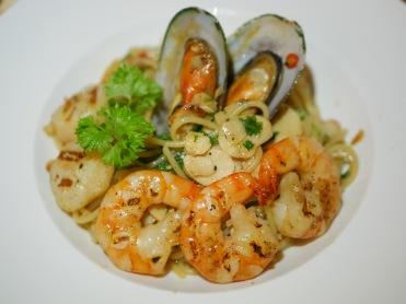 Seafood Aglio Olio ($22.80)
