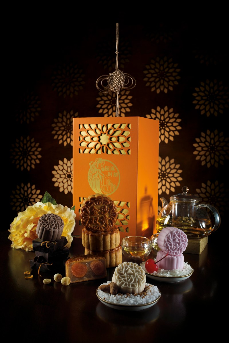 SweetSpot mooncakes - Dark Chocolate Orange Grand Marnier, Double Egg Yolk White Lotus Seed Paste, Salted Caramel Almond Crunch, Chewy Coconut & Cherry