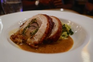 Stuffed Belly of Dingley Dell Pork, Braised Savoy Cabbage & Mustard Sauce