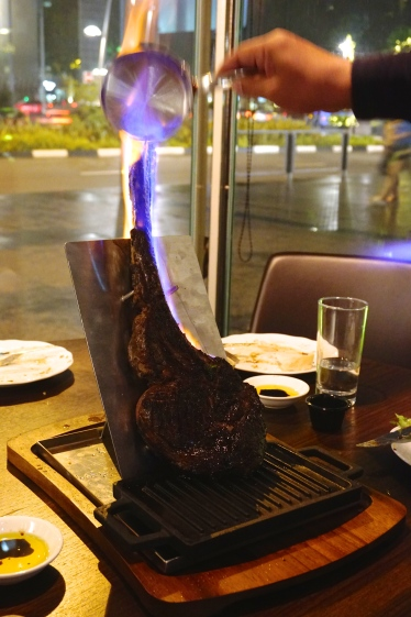 Black Angus Tomahawk - Flaming in Process