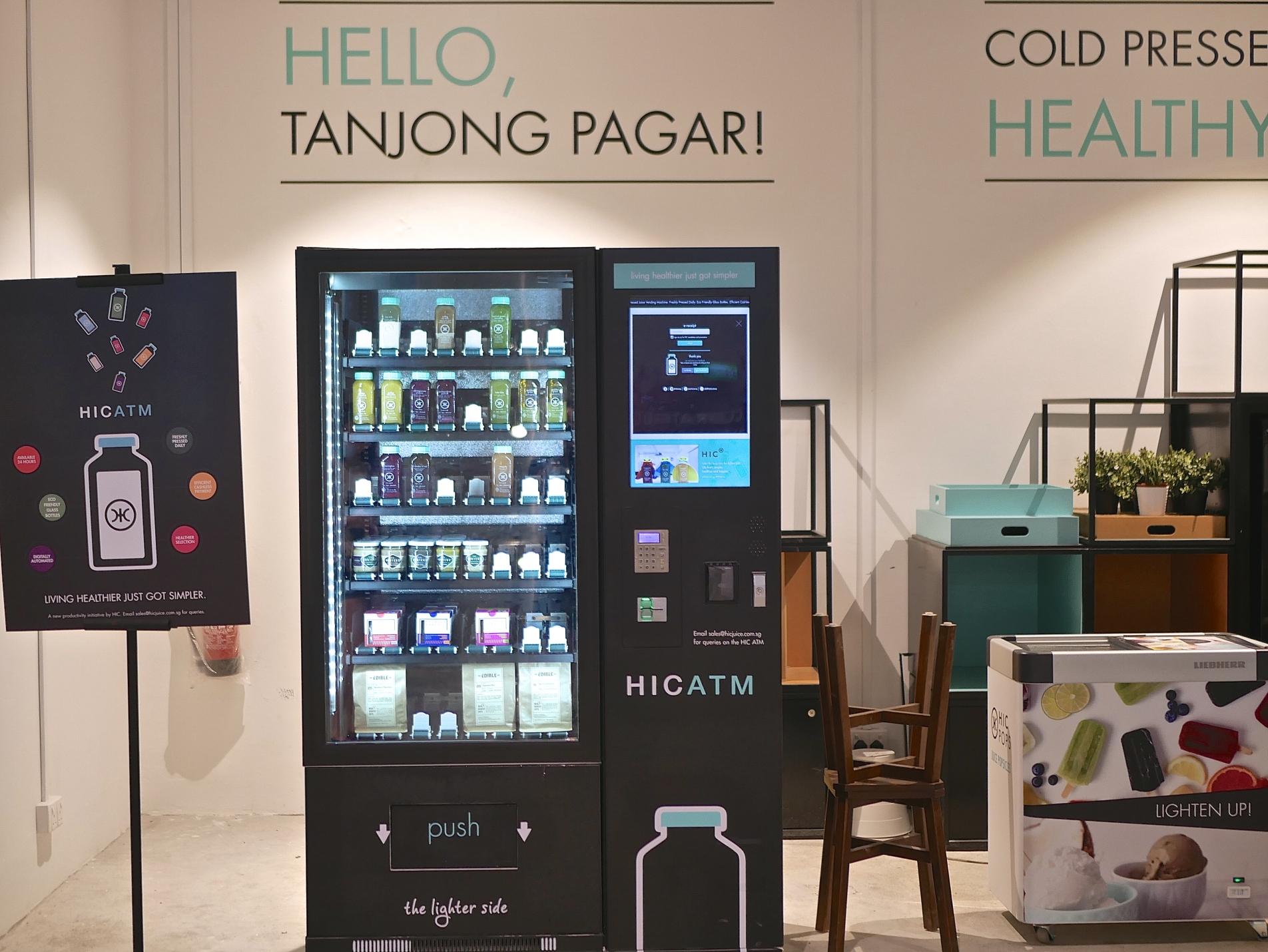 HICJUICE: Singapore's First Cold-pressed juice vending ...