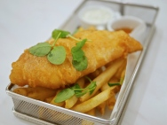LING Cod Fish & Chips ($22)