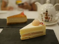 Rose Lychee Jelly Mousse Cake ($8)