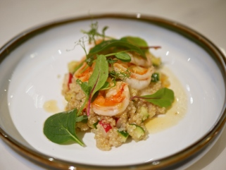Cucumber & Sea Prawn Quinoa Salad ($11)