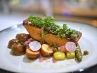 Fresh Norwegian Salmon Grenobloise ($16)