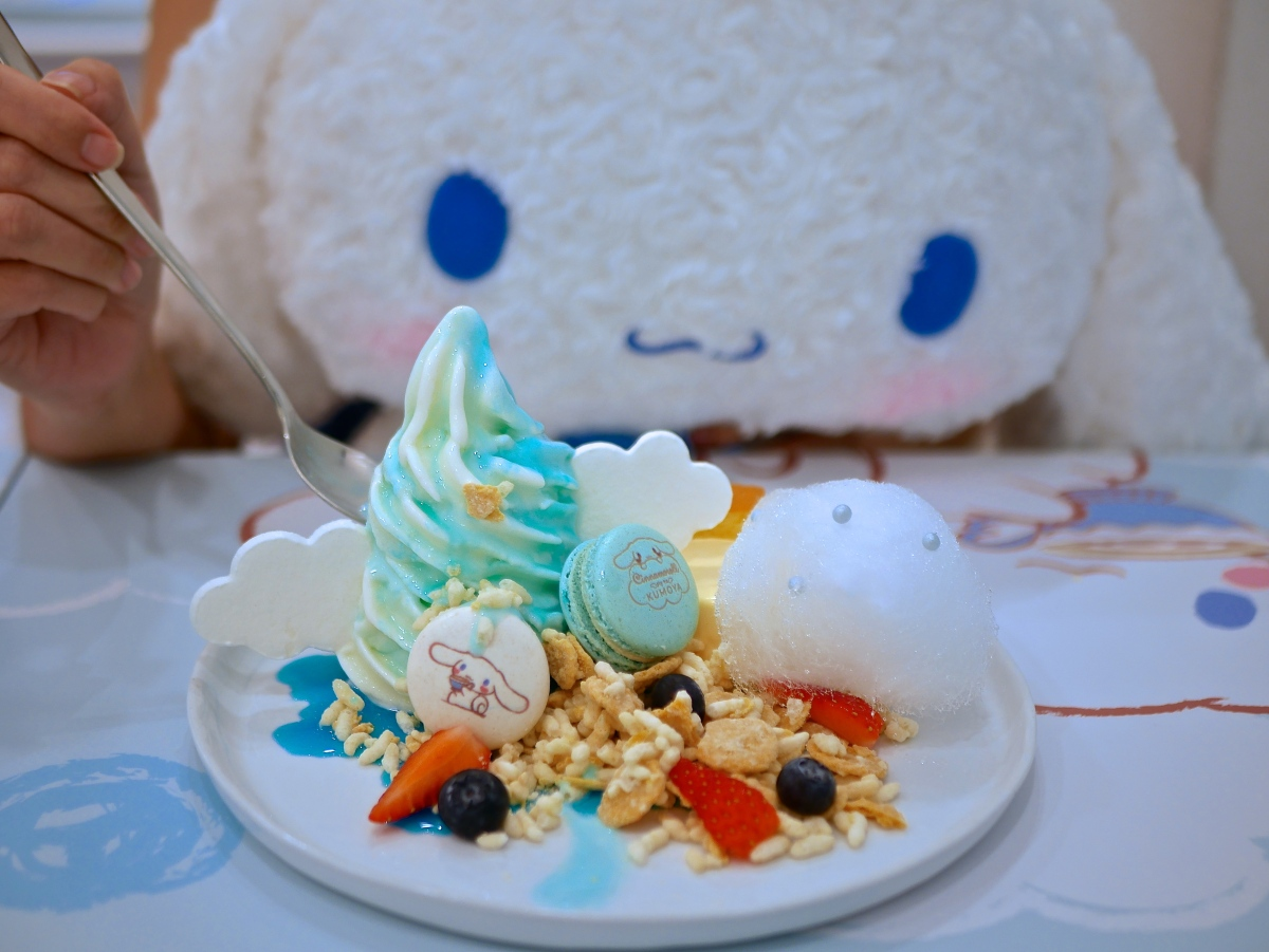 Sanrio's Fluffy Cinnamonroll floats to Kumoya Cafe Singapore