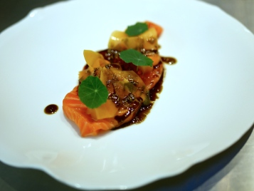 Salmon Trout with textures (cold)