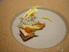 2nd Appetizer - Moment Smoked of Foie Gras Terrine with Bruschetta & orange jam