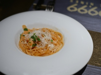 3rd Course Pasta - Spaghetti Lobster Tomato Cream Sauce (Supplement $15)