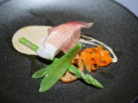 4th Course - Steam Cod Rolled in Parma Ham Porcini cream sauce & Cayenne Pepper