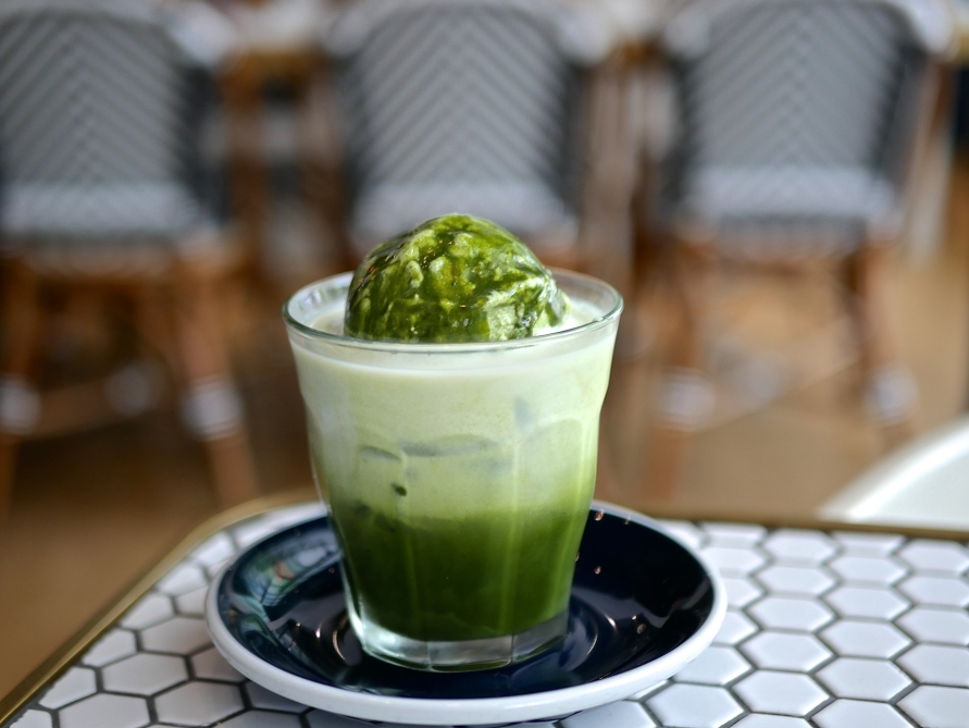 Iced Matcha Latte with Ice Cream