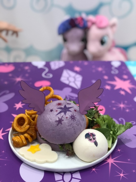Twilight Sparkle Soaring Skies Chicken Katsu Burger ($22.90)